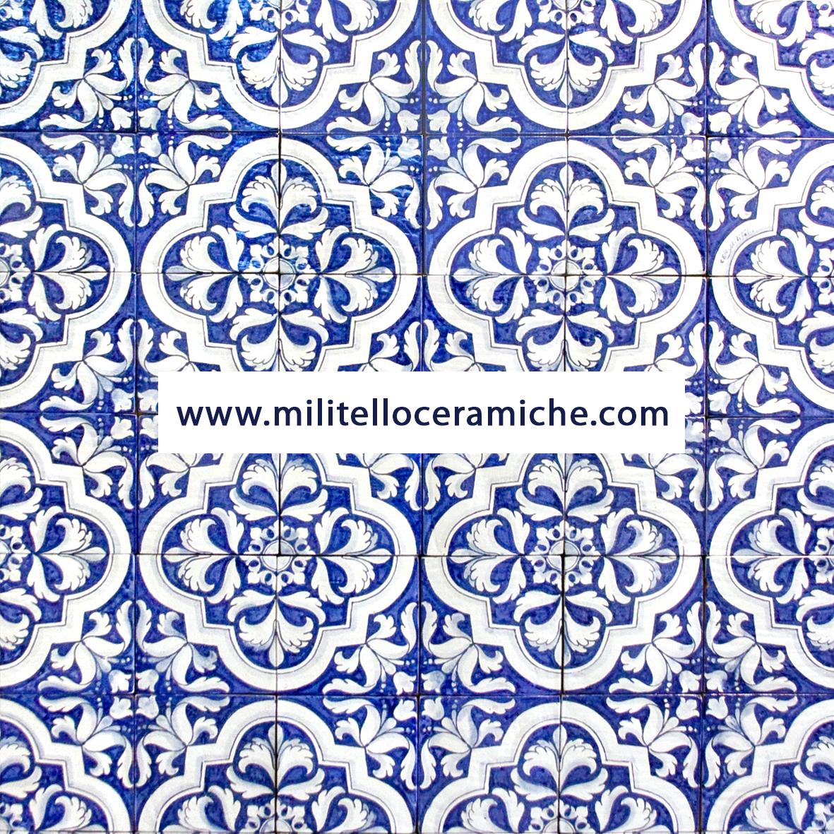 Pavimenti e rivestimenti in maiolica decorati a mano piastrelle